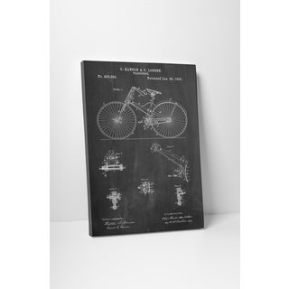 Patent Prints 'Bicycle 1890' Gallery Wrapped Canvas Wall Art