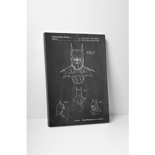 Patent Prints 'Batmask 2' Gallery Wrapped Canvas Wall Art
