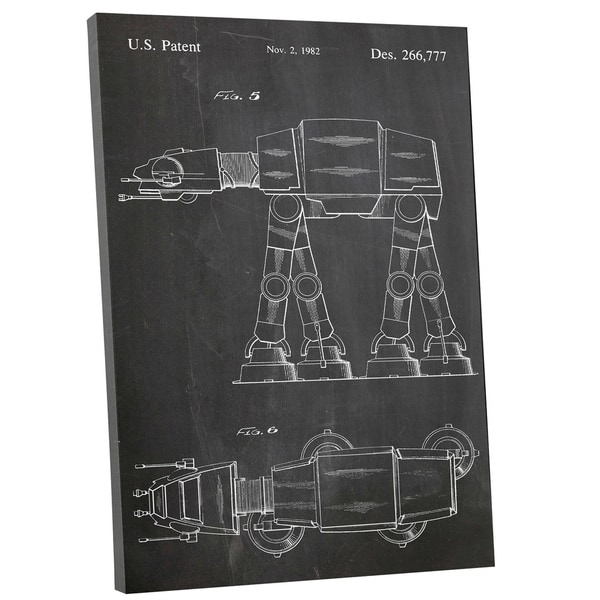 Patent Prints 'At-At Walker' Gallery Wrapped Canvas Wall Art
