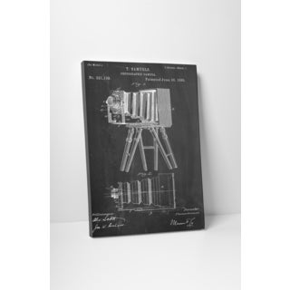 Patent Prints 'Samuels Photographic Camera' Gallery Wrapped Canvas Wall Art
