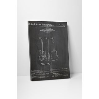 Patent Prints 'Fender Electric Guitar' Gallery Wrapped Canvas Wall Art