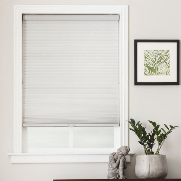 Arlo blinds honeycomb cell light filtering grey cellular for 15 inch window blinds
