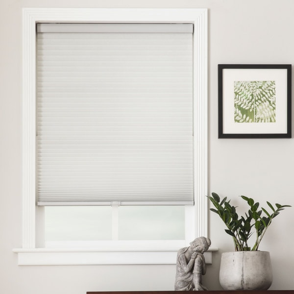 Arlo blinds honeycomb cell light filtering grey cellular for 20 inch window blinds