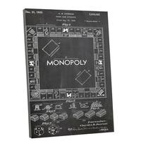 Patent Prints 'Monopoly Board Game' Gallery Wrapped Canvas Wall Art