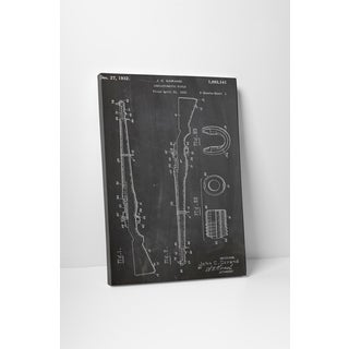 Patent Prints 'M1 Rifle' Gallery Wrapped Canvas Wall Art