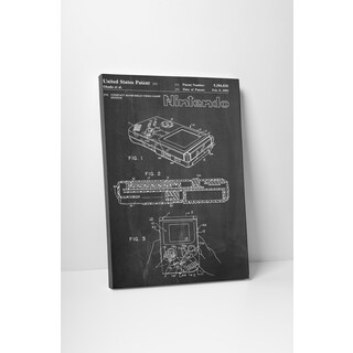 Patent Prints 'Nintendo Game Boy' Gallery Wrapped Canvas Wall Art