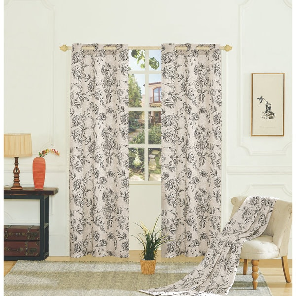 Fiona Woven Grommet Curtain Panel Pairs - Free Shipping On Orders ...
