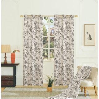 Fiona Woven Grommet Curtain Panel Pairs