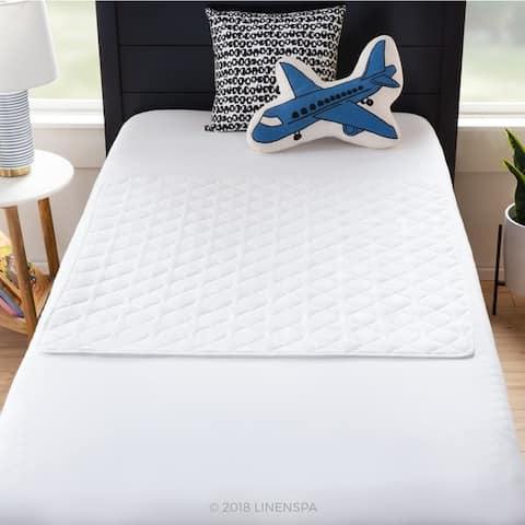Linenspa Waterproof Sheet and Mattress Protector Pad - White