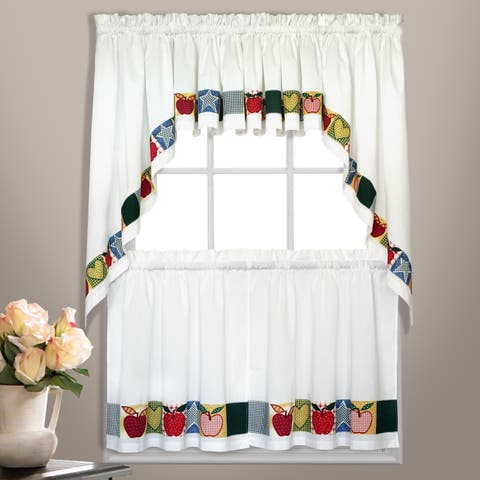 Luxury Collection Appleton Embroidered Apples Kitchen Tiers