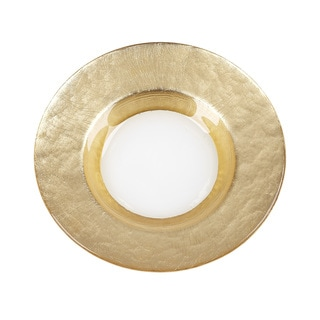Mona Wide Gold Band Canape Plate