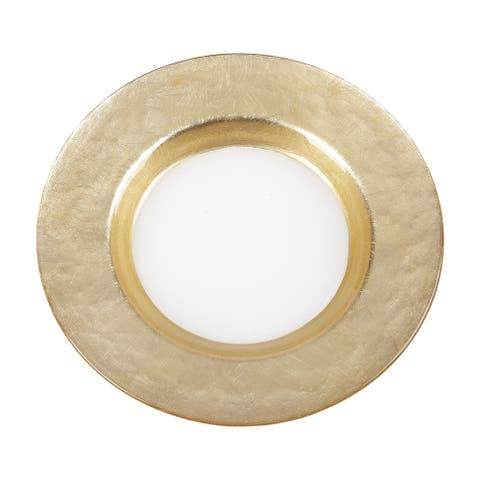 Mona Wide Gold Band Salad Plate