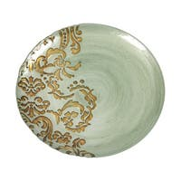 Damask Turquoise Gold Dinner Plate