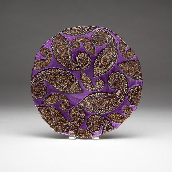 Paisley Purple/ Gold Platter