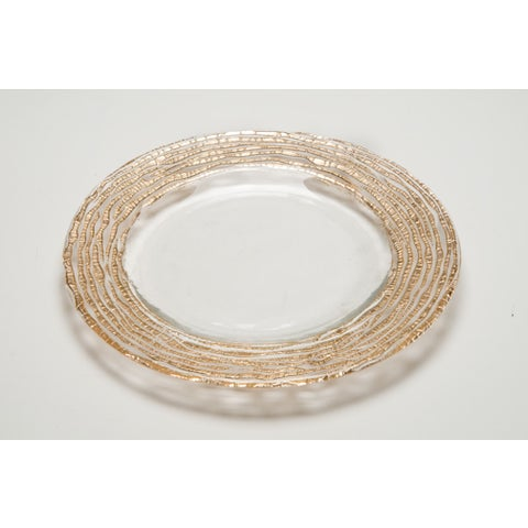 Magara Clear and Gold Dinner Plate
