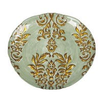 Damask Turquoise/ Gold Salad Plate