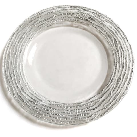 Magara Clear and Silver Dinner Plate