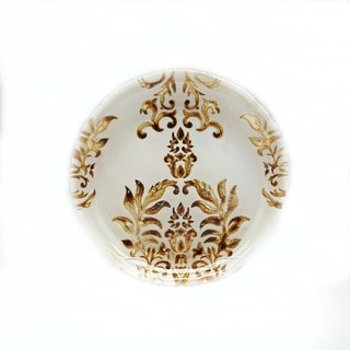Damask Ivory/ Gold Salad Plate
