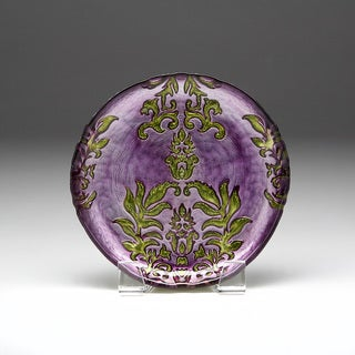 Link to Damask Purple Green Canape Plate Similar Items in Dinnerware
