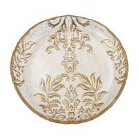 Damask Gold Velvet Canape Plate