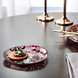 Damask Red Velvet Canape Plate