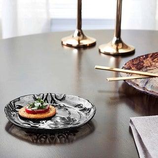 Damask Black Velvet Canape Plate