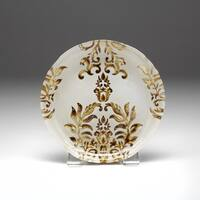 Damask Ivory/ Gold Canape Plate
