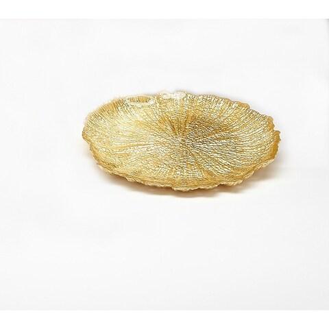 Brilliant Coral Gold Plate