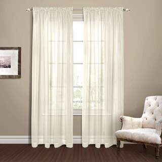 Luxury Collection Yvonne Chiffon Extra Wide Semi-sheer Curtain Panel Pair