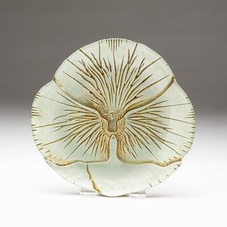 Damask purple green canape plate 18491598 overstock for Paula deen mushroom canape
