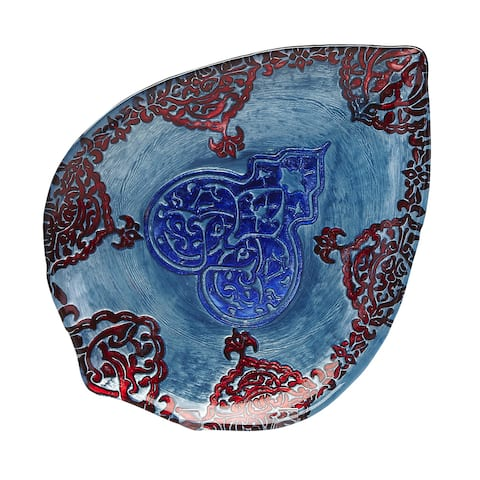 Casa Blanca Turquoise/ Lapis/ Red Plate