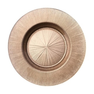 Ritz Brown Silver Glitter Salad Plate