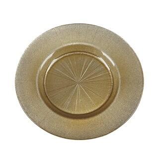 Ritz Gold Silver Glitter Salad Plate