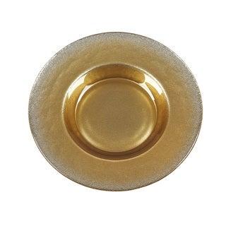 Ritz Gold Silver Glitter Canape Plate