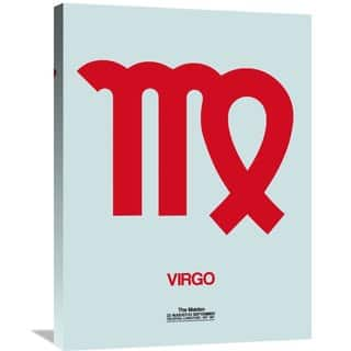 Naxart Studio 'Virgo Zodiac Sign Red' Stretched Canvas Wall Art
