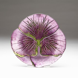 Pansy Purple/ Green Side Plate