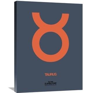 Naxart Studio 'Taurus Zodiac Sign Orange' Stretched Canvas Wall Art