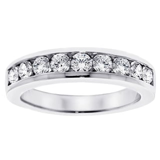 14k White Gold 1ct TDW Channel-set Brilliant-cut Diamond Wedding Ring