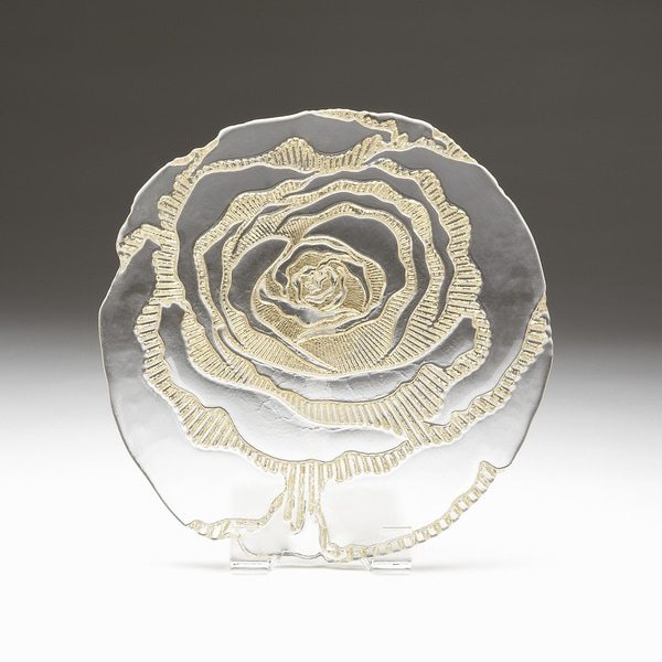 Rose Clear Gold Brushed Side Plate