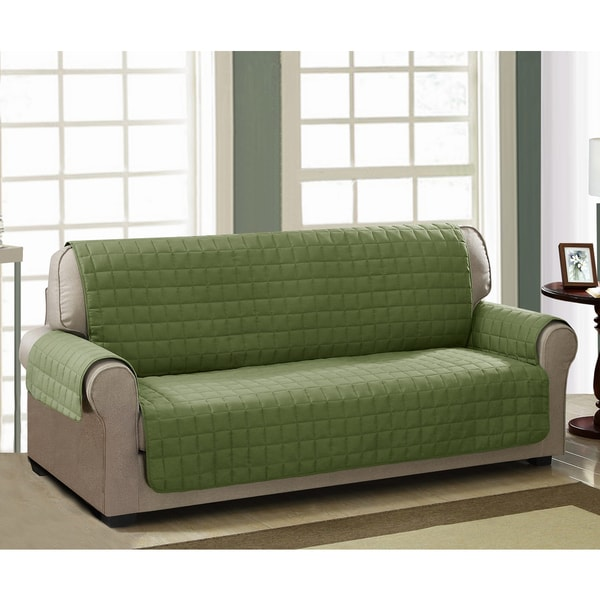 Shop Chic Home Jonathan Box Quilted Quick Draped Green