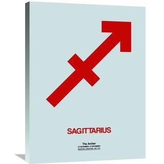 Naxart Studio 'Sagittarius Zodiac Sign Red' Stretched Canvas Wall Art