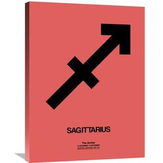Naxart Studio 'Sagittarius Zodiac Sign Black' Stretched Canvas Wall Art