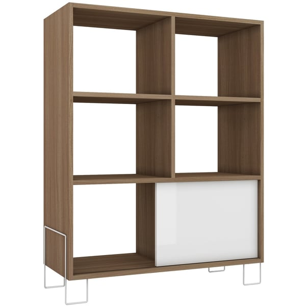 by manhattan comfort boden midhigh 6shelf 1door side stand free shipping today
