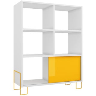 Accentuations by Manhattan Comfort Boden Mid-High 6-shelf 1-door Side Stand