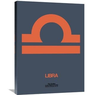 Naxart Studio 'Libra Zodiac Sign Orange' Stretched Canvas Wall Art