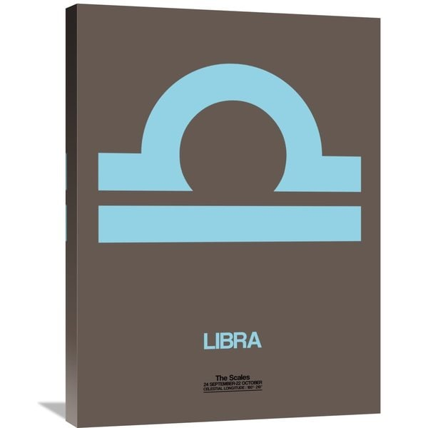 Naxart Studio 'Libra Zodiac Sign Blue' Stretched Canvas Wall Art