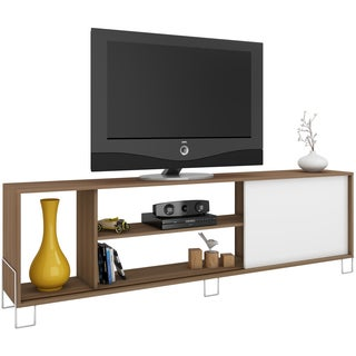Accentuations by Manhattan Comfort Nacka 4-shelf TV Stand with 1 Sliding Door