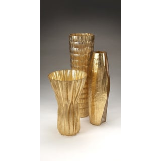 Bamboo Gold Leaf Tall Vase