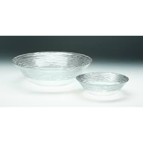 Magara Clear and Silver Soup/ Salad Bowl