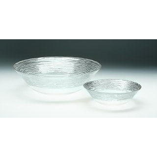 Magara Clear and Silver Soup/ Salad Bowl